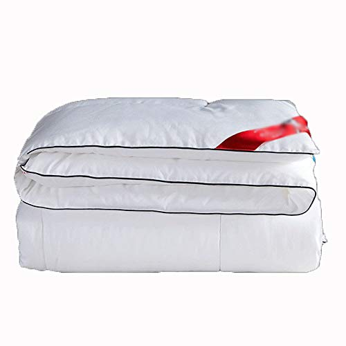 Legend Duvet, White Goose Down Winter Quilt, Soybean Fiber Quilt, Thick Quilt, Breathable and Warm, Soft and Comfortable, Anti-allergenic, Suitable for All Seasons (white) (150×200cm1.5 kg)