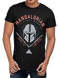 Star Wars Camiseta para Hombre The Mandalorian Negro XX-Large