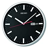Seiko Plastic Wall Clock (30.3 cm x 30.3 cm x 5 cm, Black)