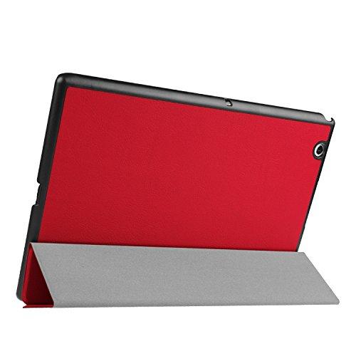 Kepuch Custer Hülle für Sony Xperia Z4 Tablet,Smart PU-Leder Hüllen Schutzhülle Tasche Hülle Cover für Sony Xperia Z4 Tablet - Rot
