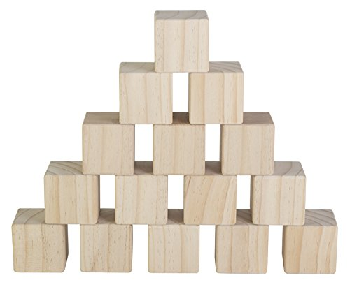 Set of 15 Large Wooden Blocks - 2 Inch...