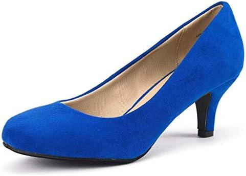 Royal blue wedges heels _image2