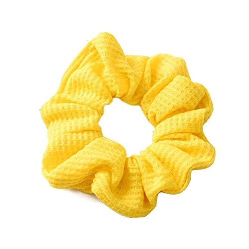 FISISZ Frauen reflektieren leichte Haarbänder Satin einfarbig Seidenhaar Krawatten Scrunchie Pferdeschwanzhalter Haarschmuck Stirnband für Frauen, 58