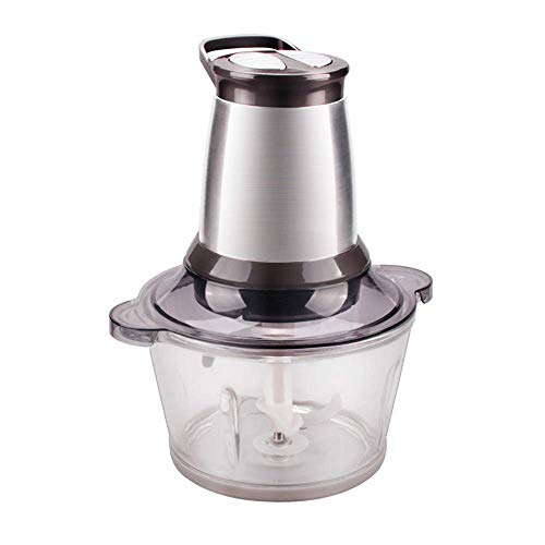 Aohi WXQ-XQ Meat GrinderHousehold Electric Stainless Steel Multi-Function Mincer Machine Chopper Chili Sauce Machine Double File 2 Liter 200 Watt Motor 2 Reamer -by (Color : Brown)