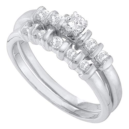 DazzlingRock Collection - Juego de Novia de Diamante de Peso Total DE...