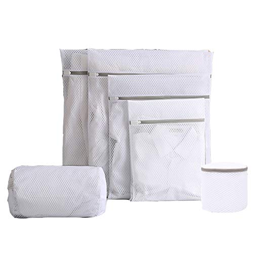 6Pcs Mesh Laundry Bags, Durable Travel Storage Organize Bag with Zipper Clothing Washing Bags for Laundry,Blouse,Bra,Stocking