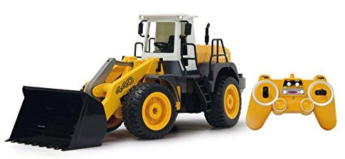 Jamara 410005 - Radlader 440 1:20 2,4G - Schaufel heben / senken / abkippen, realistischer Motorsound (abschaltbar), programmierbare Funktionen, Blinker, Autoabschaltfunktion, 2 Radantrieb*