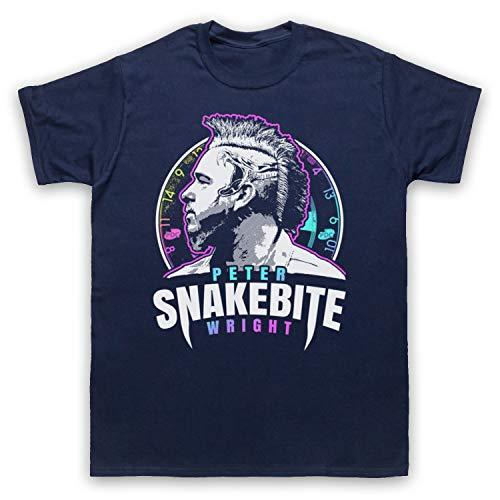 My Icon Art & Clothing Peter Wright Snakebite Darts Tribute Scottish Champion Player Herren T-Shirt, Ultramarinblau, Large