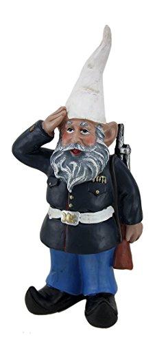 Zeckos 20,3 cm G.I. Zwergfigur George Saluting US Marine Militär Garten und Regal