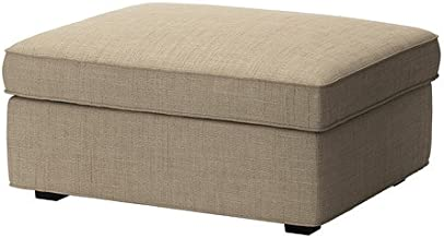 IKEA KIVIK - Cover for Ottoman with Storage Isunda Beige (cover only)