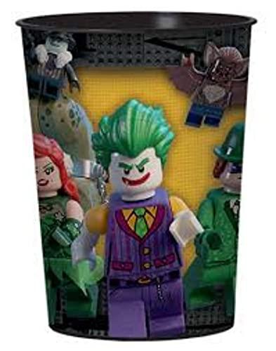 Lote de 10 Vasos Infantiles Decorativos'Batman'. Vajillas y Cuberterías. Juguetes y Regalos para Fiestas de Cumpleaños, Bodas, Bautizos, Comuniones y Eventos.