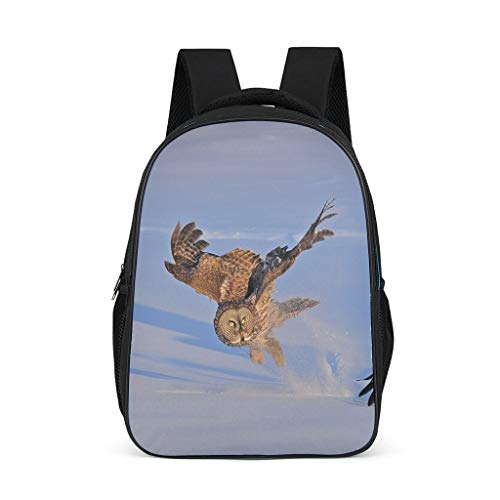 Nature Owl Causal Backpack for Teens Adults School Bags for Boys and Girls Gifts for Kids Book Bag Bright Gray OneSize