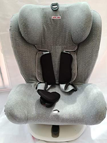 moon-bebe FUNDA PARA Star Ibaby - Silla de coche grupo 0+/1/2/3 Baby Auto Fix Noe (GREY)