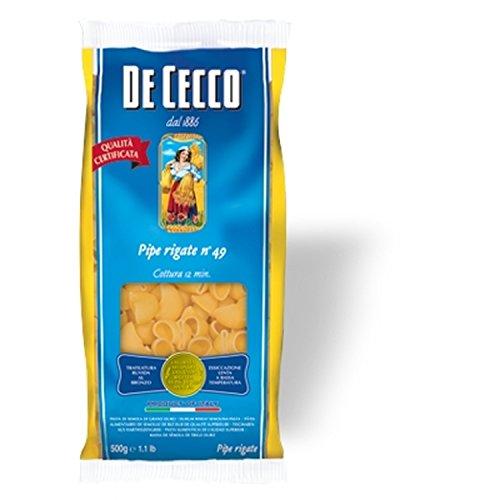 Nudeln Pasta Pipe Rigate n° 49 5 x 500 gr. - De Cecco