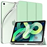 TiMOVO Funda Compatible con Nuevo iPad 10.9 Inch, iPad Air 4.ª Generación 2020 con Portalápices para Apple Pencil, Funda Protectora Delgada y Ligera con Estela/Sueño Auto, Verde