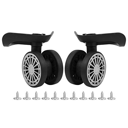 DAUERHAFT Double Row Spare Luggage Wheels 2 Pcs Bearing Wheel Mute Suitcase Replacement for Luggage