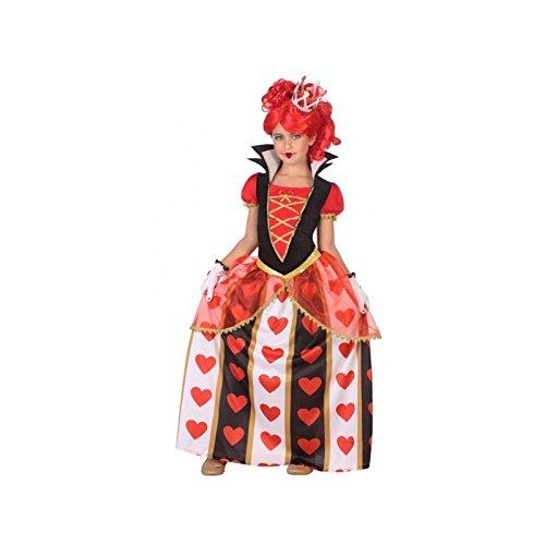 Atosa-56873 Disfraz Reina Corazones, Color Rojo, 10 a 12 años (56873)