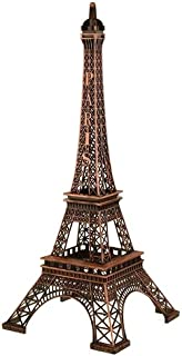Homeford Firefly Imports Tall Metal Eiffel Tower Paris France, 20-Inch, Brown