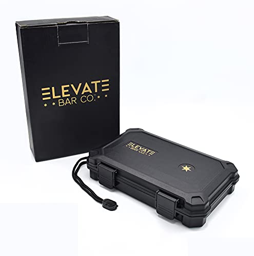 Elevate Bar Co.™ Travel Carrying Case - 5- Count- Waterproof, Crushproof, Airtight Seal, Durable Black Portable Case