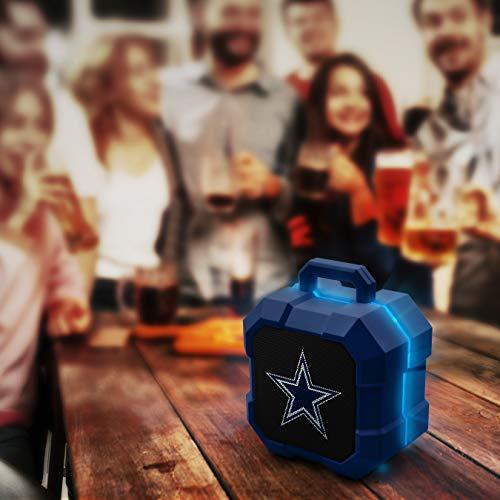 NFL Dallas Cowboys Shockbox LED Wireless Bluetooth Speaker, Team Color
