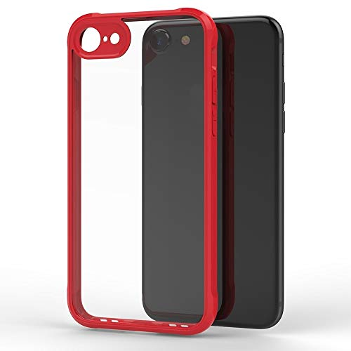 Wuqiang Funda telefónica for iPhone 8 & 7 Transparent Acrylic + TPU Airbag Threapp Thone Cover (Color : Red)