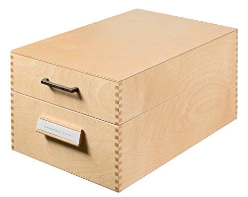 Han 1005 - Schedario in legno per 1.500 cartoncini in formato A5 orizzontale, in legno, 255 x 190 x 380 mm