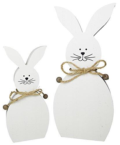 khevga Decorazioni pasquali Deco Coniglio Bianco Set di 2