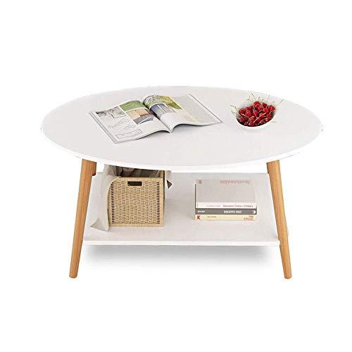 Mlimy Oval Blanco de Mesa pequeña, Moderna Simple de la Vida sofá de la Mesa de Centro Dormitorio Mesa Redonda Pequeño Espacio Pequeño