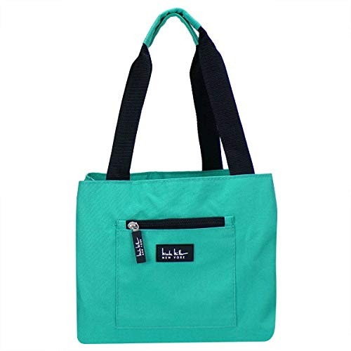 Nicole Miller of New York Insulated Lunch Cooler 11 Lunch Tote (Turquoise)