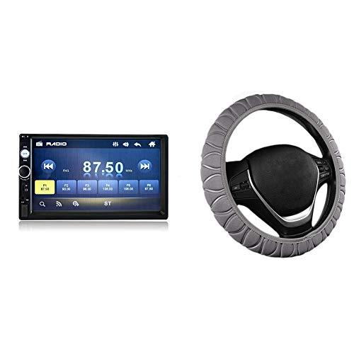 1 Uds 7 Pulgadas HD 2DIN Autoradio Stereo Car Radio MP3 MP5 Player y 1 Uds Cubierta del Volante del Coche