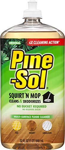Pine-Sol Squirt and Mop Floor Cleaner, Original, 32 Ounces (Pack of 6)
