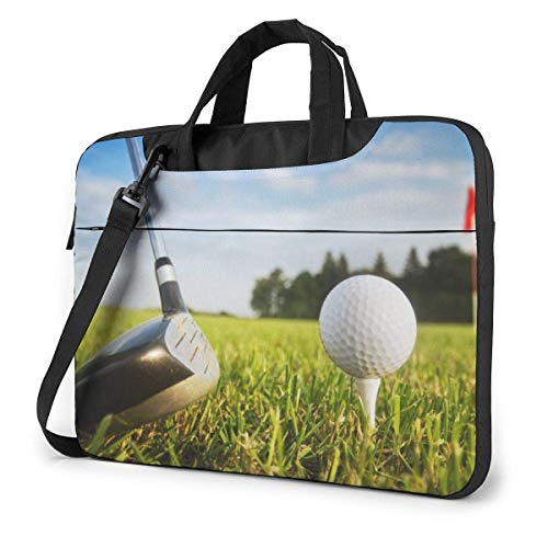 Laptop Shoulder Bag Carrying Laptop Case 14 Inch, Golf Sport Computer Sleeve Cover with Handle, Business Briefcase Protective Bag for Ultrabook, MacBook, Asus, Samsung, Sony, Notebook