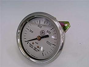 McDaniel Controls G1000PSI Pressure Gauge 1//pkg 0-1000 PSI 1//4 inch Fitting Size