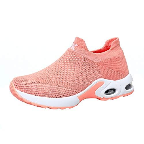 TWIFER Zapatillas Deportivas Correr Mujer Zapatillas Unisex Adulto Zapatos para Caminar Sneakers Gimnasio Aumentar Más Altos Casual Mesh Antideslizante Running Transpirable Primavera/Verano 2019