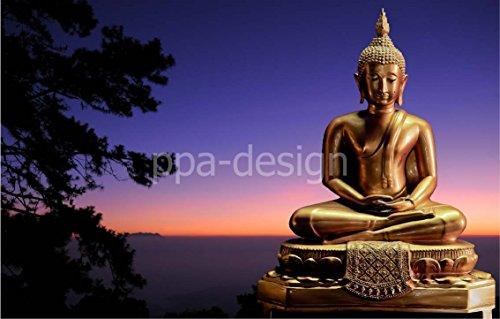 Sticker Autocollant Mural New York Bouddha Zen - SRPA0036 (20x13cm)