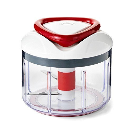 Zyliss Easy Pull Chopper and Manual Food Processor-Vegetable Slicer and Dicer-Hand Held, 1 pounds, 1, Clear
