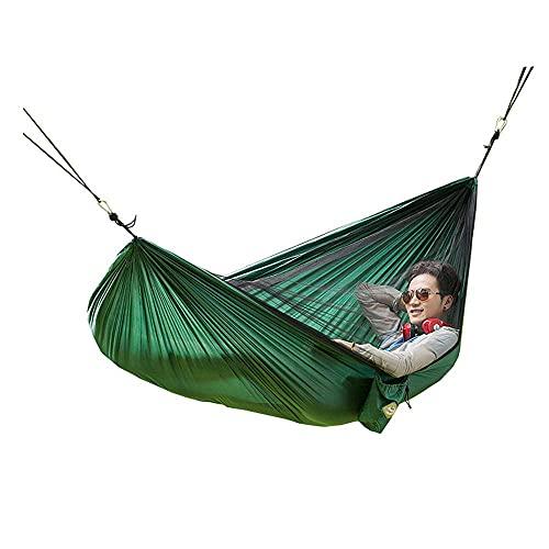 TNSYGSB Tela de Doble paracaídas Mosquito Net Hammock Ocio Tipo de Barco Camping Hamaca Colgante Silla-A Hamaca Jardin (Color : A)