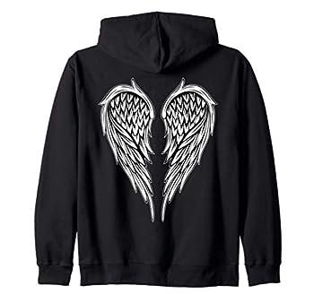 Wings On The Back Side Angel Zip Hoodie