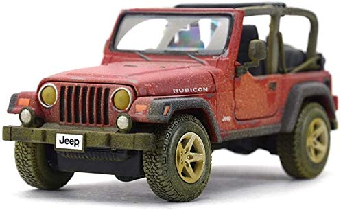KJAEDL Model Cars For Kids Die-cast Car Model 1:24 Scale JEEP Wrangler Robin Hood Highly Detail Model Ornaments Simulation Alloy Birthday Gift For Boy