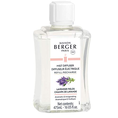 Fragrance Refill for Lampe Berger Ultrasonic Electric Mist Diffuser - 475 milliliters - 16 Fluid Ounces - Made in France (Lavender Fields)