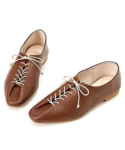 [ニッセン] 靴(シューズ) 【ゆったり幅広】 デザインレースアップシューズ(ワイズ4E) モカブラウン L・24.0~24.5cm/4E