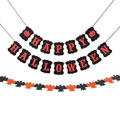 JRrutien Happy Halloween Banner Cardstock Bunti...