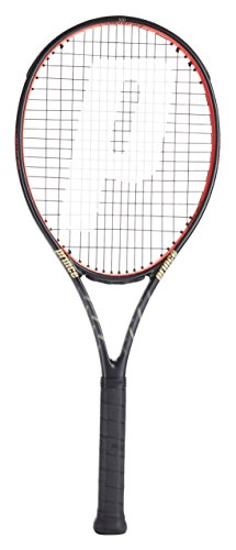 Prince O3 Beast 100 Adult Tennis Racket, Black/Red, Grip 4: 4 1/2 Inches