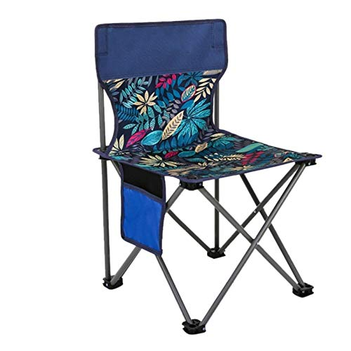 BSLBBZY Nuevo Portable al Aire Libre del Asiento Silla de Camping Tela Oxford Silla Plegable sillas de Pesca Barbacoa-Playa de heces con el Bolso Silla de Exterior de Ocio (Color : Blue)