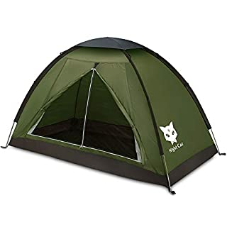 Night Cat Backpacking Tent for One 1 to 2 Persons Lightweight Waterproof Camping Hiking Tent for Adults Kids Scouts Easy Setup Single Layer 2.2x1.2m (B07WR1V29Y) | Amazon price tracker / tracking, Amazon price history charts, Amazon price watches, Amazon price drop alerts