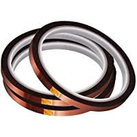 3-Pack Mecolour 6mm X 33m 108ft High Temp Tape