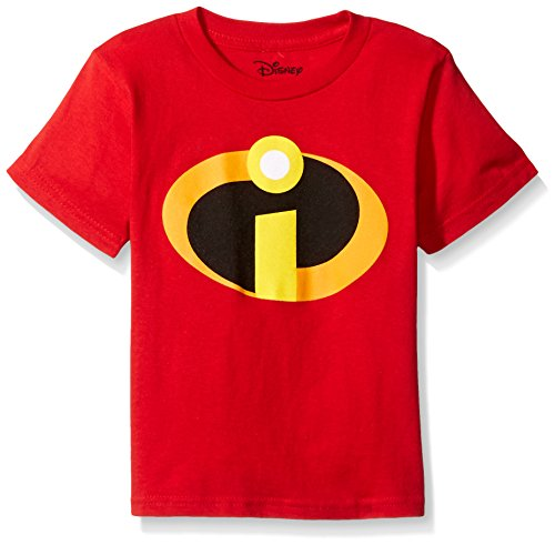 Disney Little Boys' the Incredibles Logo Costume T-Shirt, Red, 7