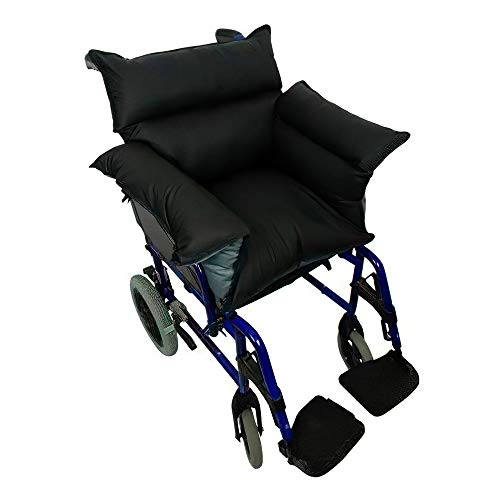 Queraltó - Saniluxe T/L Gepolsterte Sitzauflage für Rollstuhl | wendbare Rollstuhlabdeckung | Faserfüllung | wasserdicht, atmungsaktiv und schwer entflammbar
