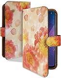 Galaxy A20 SCV46 SC-02M ケース 手帳型 携帯ケース 花 花びら 牡丹 はながら おしゃれ ギャラ……