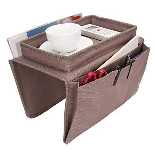 wxf 4 Taschen Sofa Armlehne Tv Fernbedienung Organizer Sessel Couch Tasche Mit Becherhalterungsfachkaffee